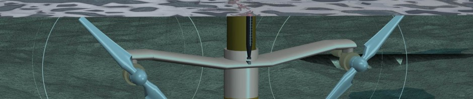 Artist's impression of one of the SeaGen Marine Turbines