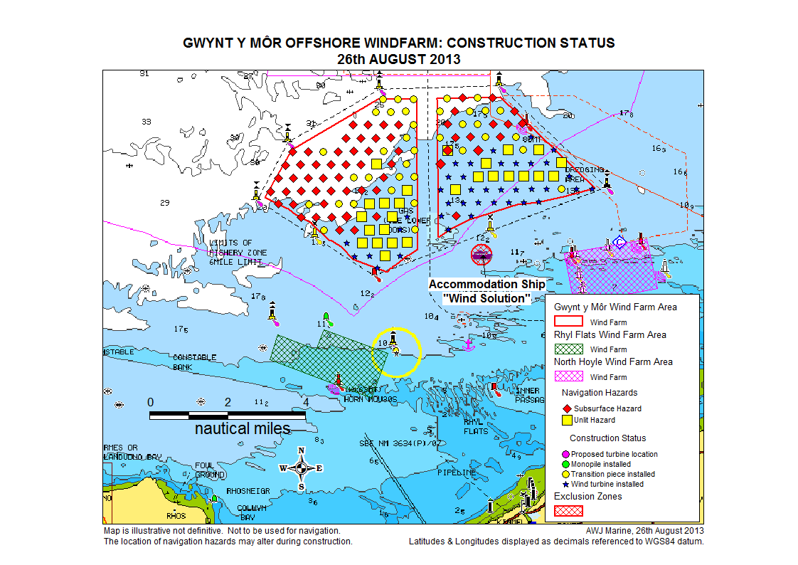 wind farm construction status progress with construction is illustrated in a map here and summarised